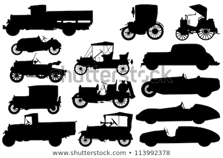 Old Car  Silhouette Stock photo © silverrose1