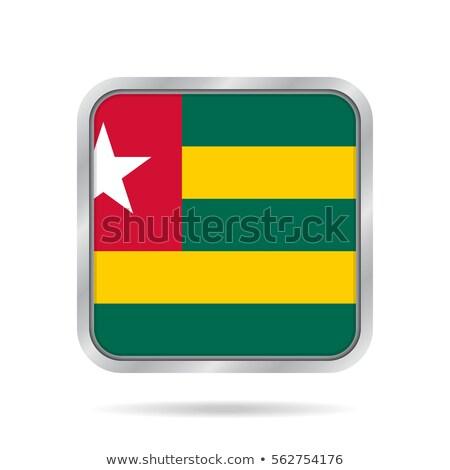Placu metal przycisk banderą Togo odizolowany Zdjęcia stock © MikhailMishchenko
