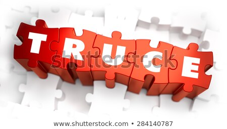 Truce - White Word on Red Puzzles. Stock photo © tashatuvango
