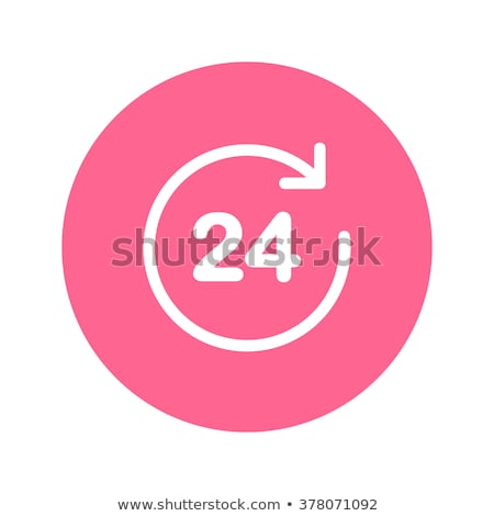 Stock photo: 24 Hours Services Pink Vector Button Icon Design Set