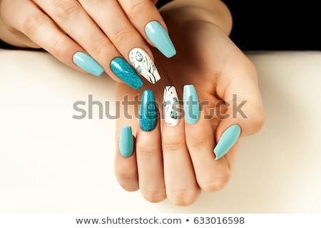 ストックフォト: 女性 · 手 · アクリル · 爪 · 少女 · 女性