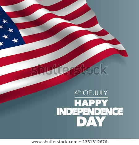 July 4th 3D text isolated Stock photo © Irisangel