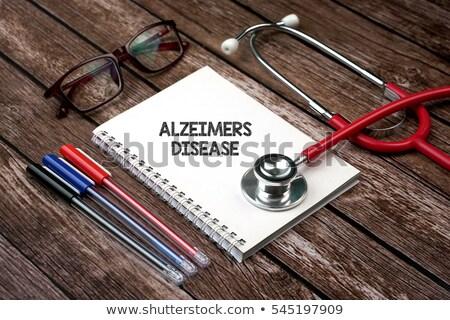 diagnosi · medici · arancione · offuscata · testo - foto d'archivio © lightsource