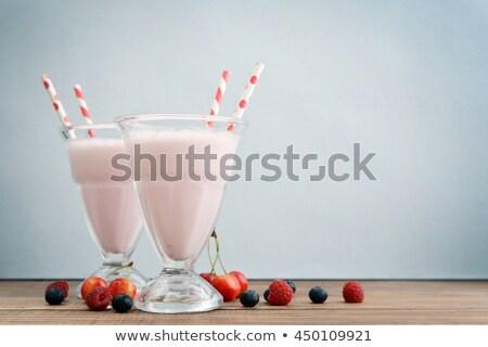 йогурт свежие Ягоды таблице все Сток-фото © Kayco