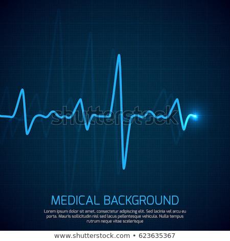 импульс изолированный врач медицинской сердце фон Сток-фото © fuzzbones0