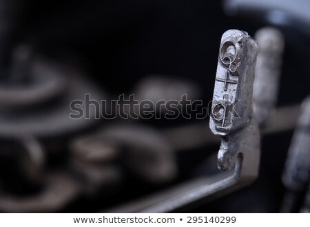 Q hammer - old manual typewriter - cold blue filter Stock photo © michaklootwijk