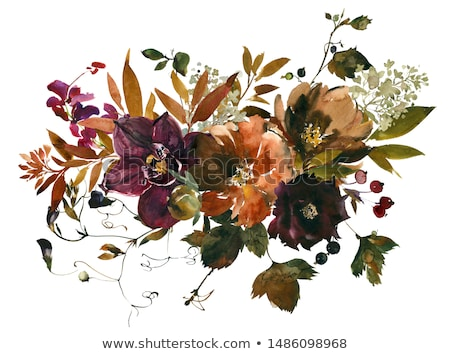 Autumn card with ruby Stock photo © carodi