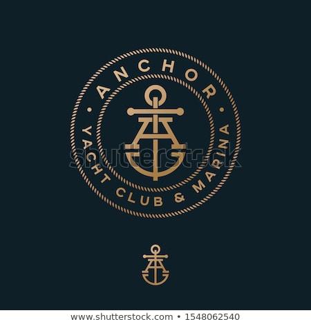 Vector yacht club logo Stock photo © netkov1