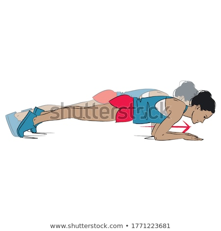 Photo stock: Pilates · femme · vu · exercice · entraînement · gymnase