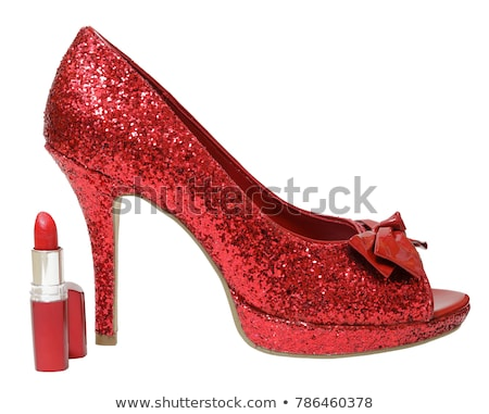 Red Stiletto Heel Shoes Stock photo © Bigalbaloo