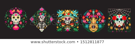 set of mexico vector illustrations stock photo © netkov1