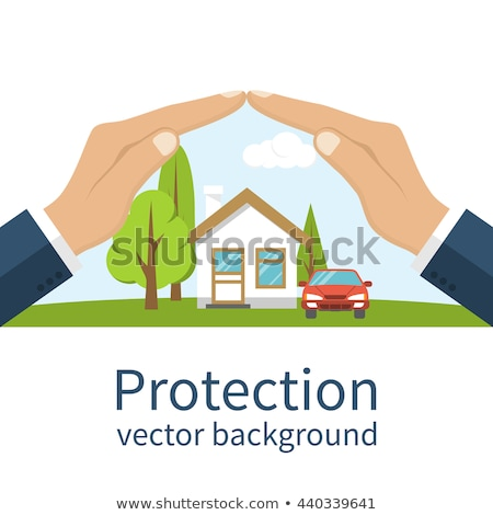Protegido segurado seguro dinheiro guarda-chuva vetor Foto stock © konturvid