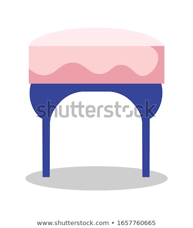 pink leather foot stool ottoman Stock photo © ozaiachin