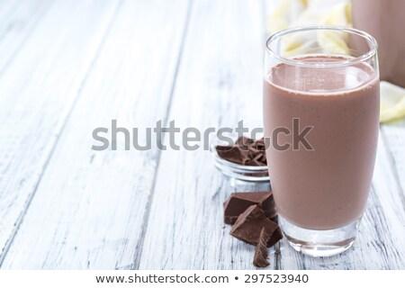 Milkshake vol glas restaurant chocolade zomer Stockfoto © ziprashantzi