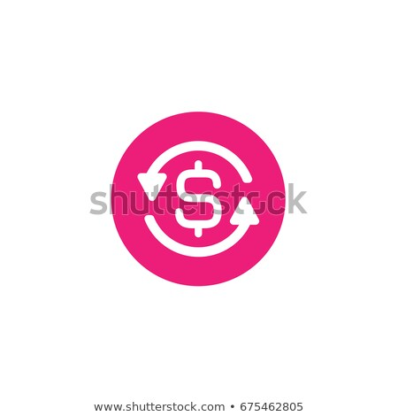 Stock photo: Dollar Sign Pink Vector Button Icon