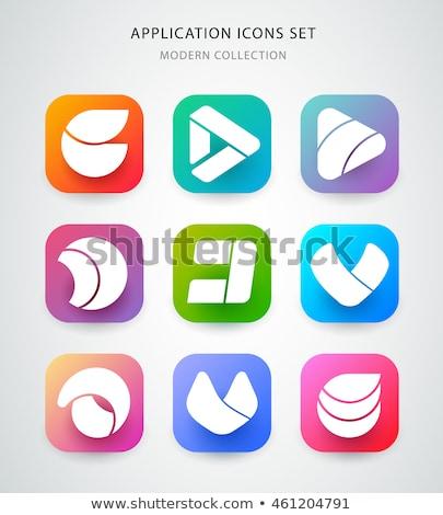 Play Violet Vector Icon Design Stock photo © rizwanali3d