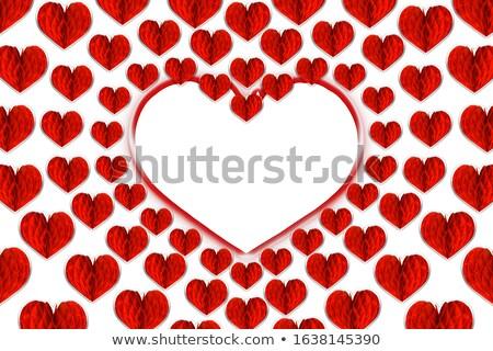 пусто · карт · красный · сердцах · изолированный · белый - Сток-фото © tetkoren