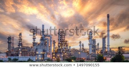 A night view of a derrick drilling. Stock photo © EvgenyBashta