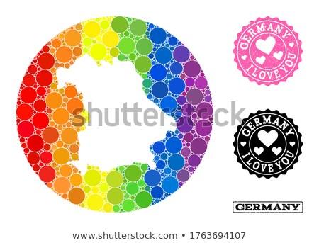 Германия гей карта стране гордость флаг Сток-фото © tony4urban