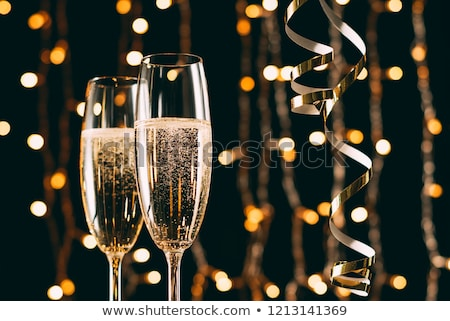 christmas champagne glasses stock photo © neirfy