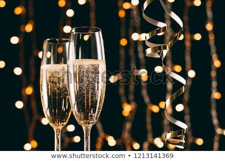dwa · szampana · okulary · stole · szkła - zdjęcia stock © neirfy