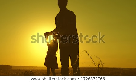 father rotate daughter Stock photo © Paha_L