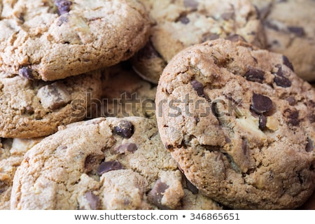 Close-up of several piles of chocolate cookies Stock photo © asturianu