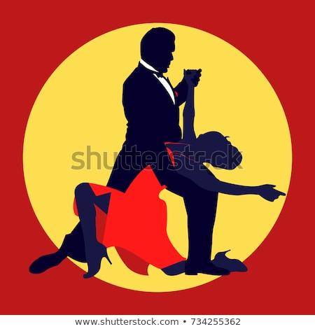 Tango dançarinos ilustração sensual moda casal Foto stock © bokica