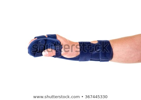 Man with Hand and Wrist Wrapped in Support Brace Stock photo © belahoche