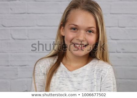 10 anni ragazza ritratto floreale faccia Foto d'archivio © igabriela