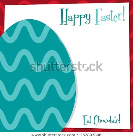 Stockfoto: Funky · easter · egg · kaart · vector · formaat · voorjaar
