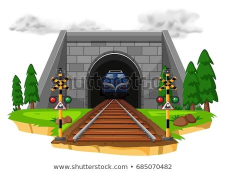 railway tunnel vector illustration stock photo © konturvid