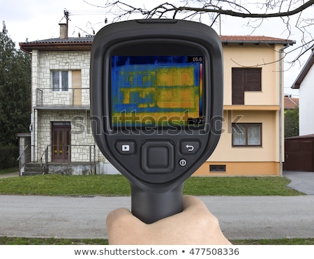 Semi Detached House Infrared Stock photo © Suljo