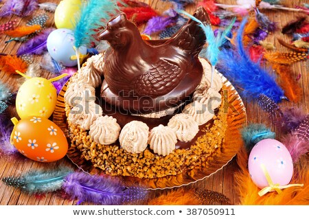 chocolate chicken eaten in Spain on Easter Monday Stock photo © nito