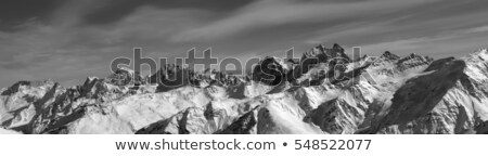 Mount Ushba in clouds at winter Stock photo © BSANI