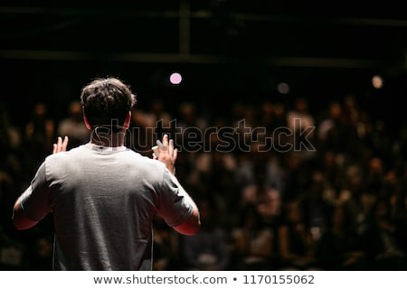 Speaker or politician at rostrum - people on seminar Stock photo © Winner