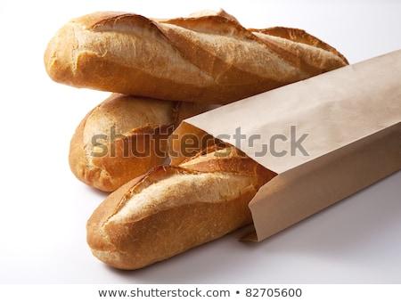 Chleba bagietki koszyka wiklina żywności świeże Zdjęcia stock © Digifoodstock