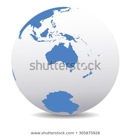 Foto stock: Australia And New Zealand South Pole Antarctica Global World