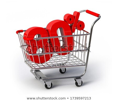 Shopping cart and 80 percent stock photo © Supertrooper