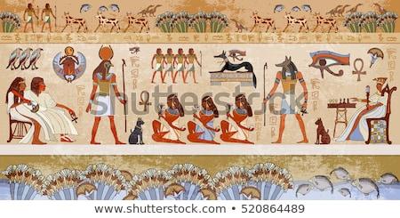 Egyiptomi hieroglifa mészkő fal templom orvosi Stock fotó © simply