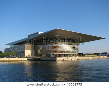 Copenhague ópera casa cenário cidade Dinamarca Foto stock © prill