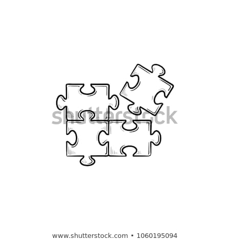puzzle · logo · üzlet · infografika · 3D · ikon - stock fotó © pakete