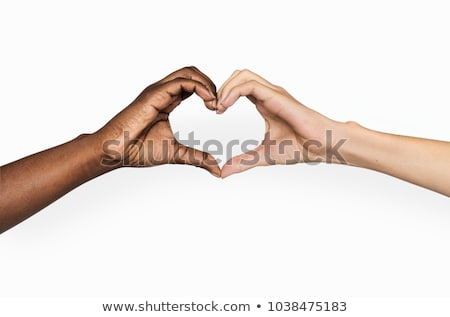 Stock fotó: Szeretet · kezek · készít · forma · szív · család