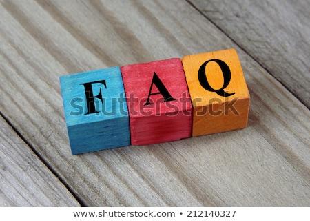 головоломки слово часто задаваемые вопросы головоломки строительство связи Сток-фото © fuzzbones0