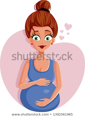 Pregnant woman with kicking heart icon Stock photo © adrian_n