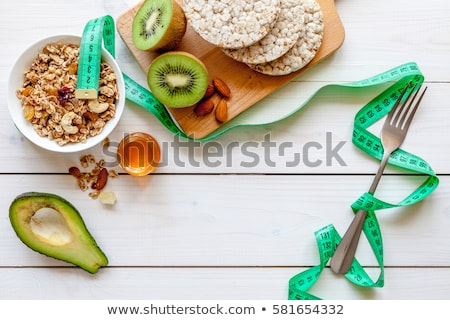 Régime alimentaire différent femme santé robe Photo stock © Vg