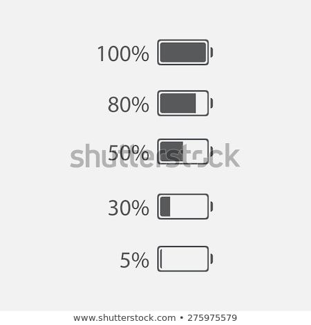 Buttons showing a charging battery Stock photo © bluering
