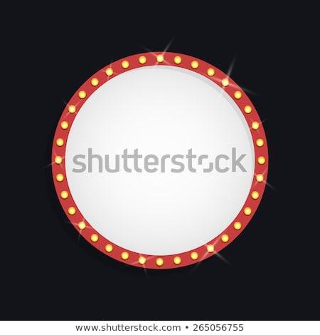 vektor · elektromos · kék · keret · fény · hatás - stock fotó © beholdereye