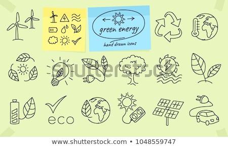 太陽エネルギー スケッチ アイコン ベクトル 孤立した 手描き ストックフォト © RAStudio