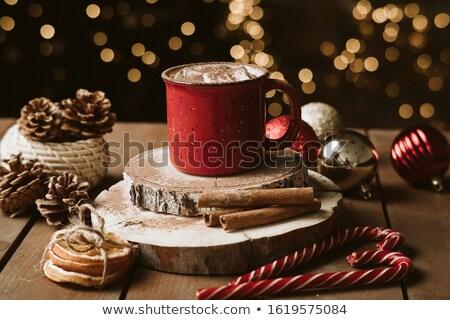 chocolat · guimauve · table · en · bois · fête · anniversaire · dessert - photo stock © karpenkovdenis